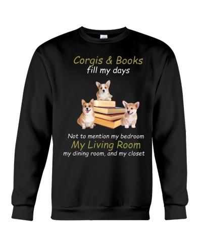 Corgi and book fill my days