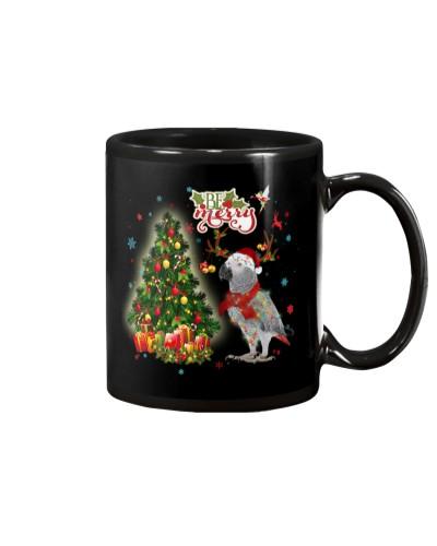 Afican grey be mery mug