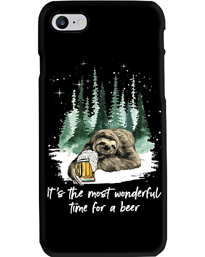 Sloth wonderful time for a beer