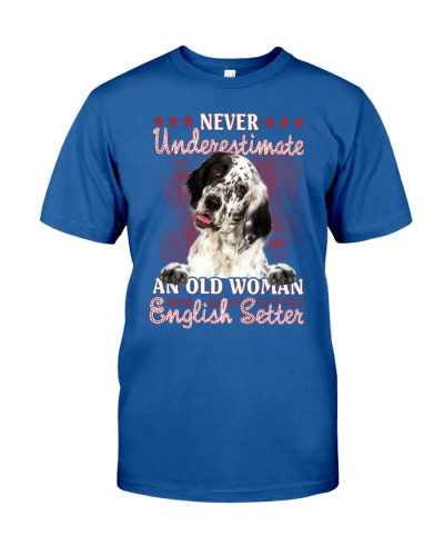 English setter never underestimate old woman
