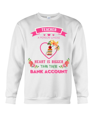 Teacher bigger than bank account
