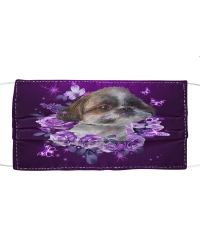 fn 5 shih tzu purple flowers f