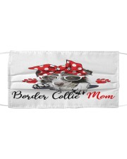 Monica Border Collie love mom Cloth face mask front