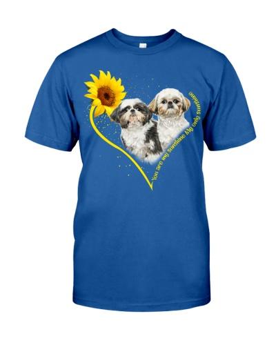 Shih tzu heart sunflower