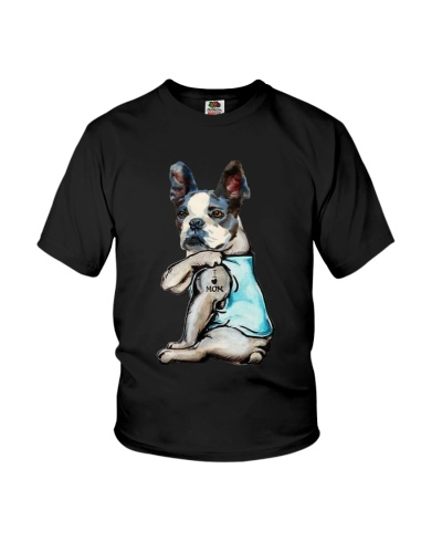 Boston terrier i love mom tattoo