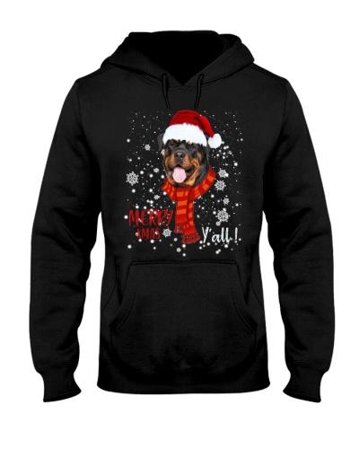 Rottweiler merry xmas y'all