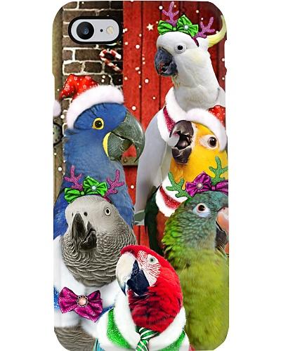 Parrot hello christmas phone case