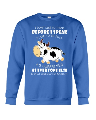 Ln cow think before I speak