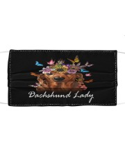 TH 32 Dachshund Is Beautiful Lady Cloth face mask front