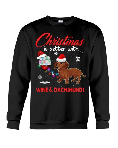 Dachshunds and Wine christmas is better