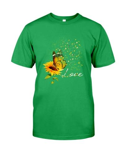 Butterfly sunflower fishing love gift