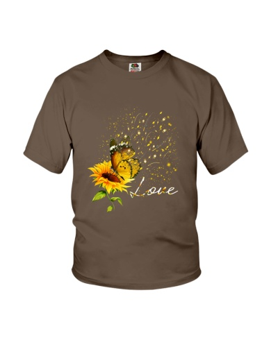 Butterfly sunflower fishing love gift