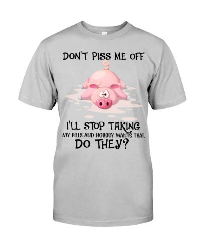 Pig stop taking pills