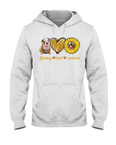 Ln bulldog and love and sunshine