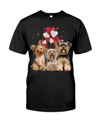 Yorkshire terrier heart valentine
