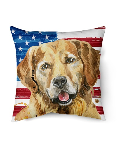 ll 12 golden retriever with america flag