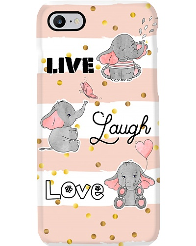 TD Elephant Live Laugh Love Phone Case