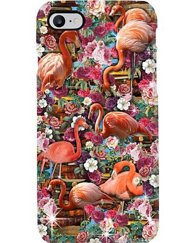 Flamingo Love Book Phone Case