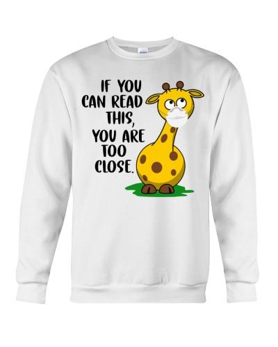 Ln 10 giraffe you are too close