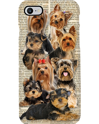 Yorkshire terrier in news phone case