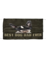Th 2 Boston Terrier Best Dog Dad Ever Cloth face mask front