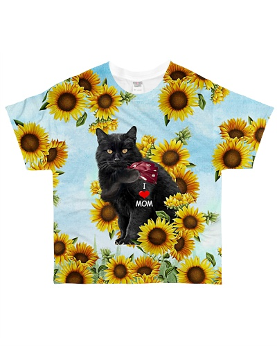 SHN 7 I love mom sunflower Black Cat