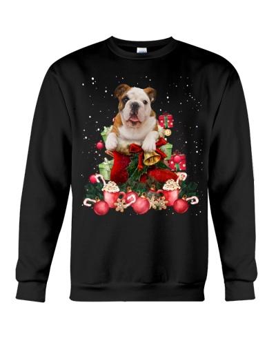 Bulldog gift ball christmas