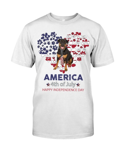 Rottweiler Happy Independence Day