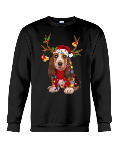 Basset hound gorgeous reindeer