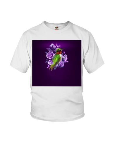 Fn 5 hummingbird purple flowers face