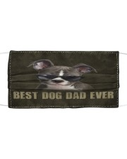 Th 2 Pitbull Best Dog Dad Ever Cloth face mask front