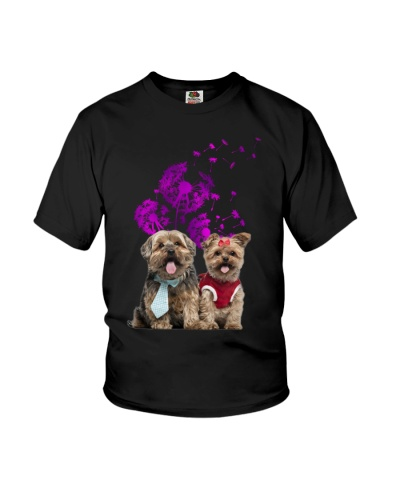 Yorkshire dandelion purple shirt