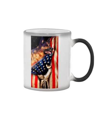 SHN 10 American flag hand German Shepherd case