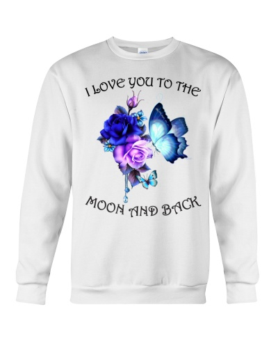 Ln butterfly with roses moon and back