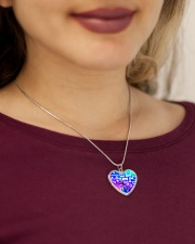 Wife whispered miss you necklace Metallic Heart Necklace aos-necklace-heart-metallic-lifestyle-1