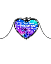 Wife whispered miss you necklace Metallic Heart Necklace front