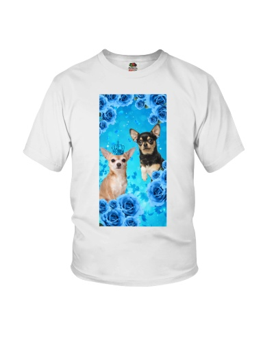 Chihuahua With Blue Rose Phone Case