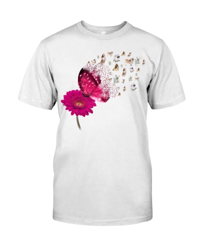 Shihtzu magical flying from pink butterfly shirt