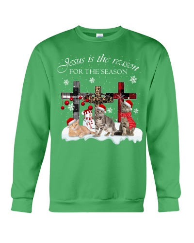 SHN 9 Jesus is the reason for the season Cat shirt