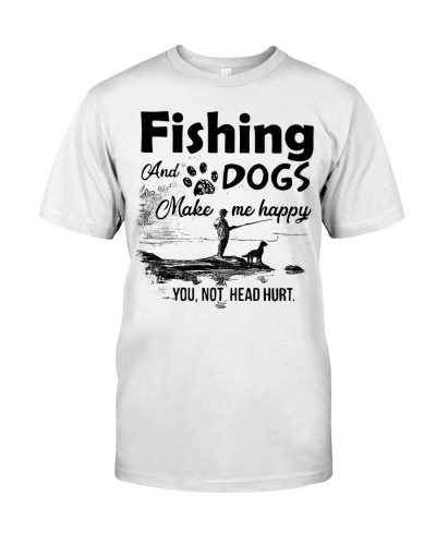 Fishing dog shirt