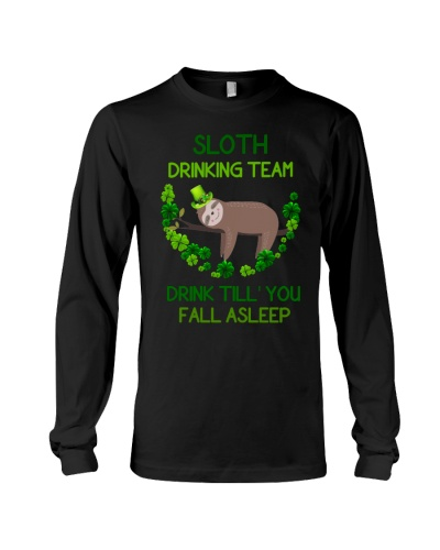 Sloth Drinking Team Drink Till You Fall Asleep
