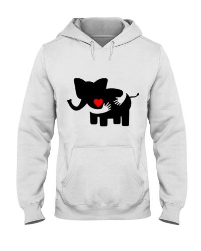 Elephant Heart To Heart Hugs