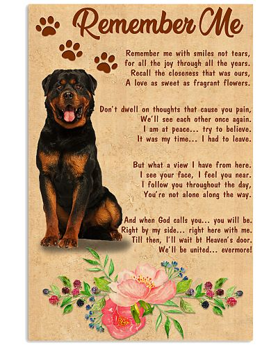 TH 30 Remember Rottweiler Poster