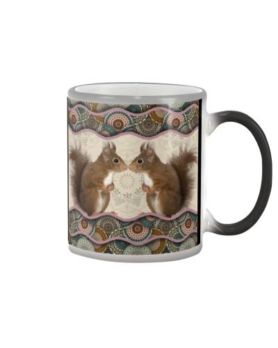 Squirrel Boho Pattern