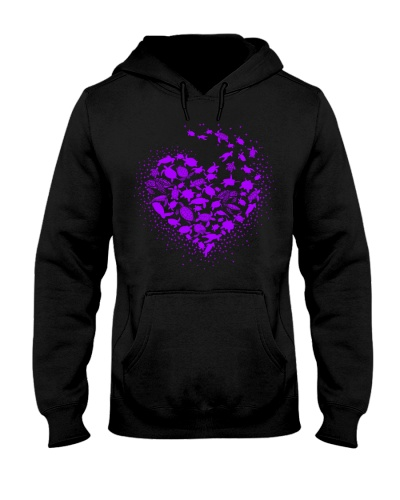 Turtle Heart Purple