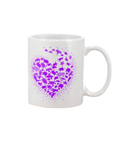 Turtle Heart Purple