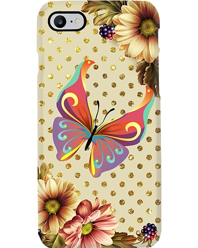 Butterfly amazing flowers phone case