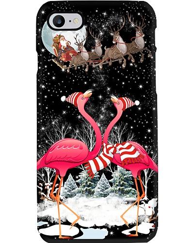 Flamingo christmas phone case