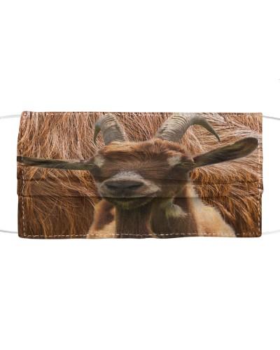SHN 10 Feather background Goat mask