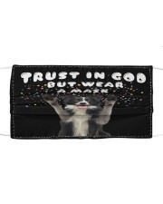 TT Border Collie Trust In God Cloth face mask front